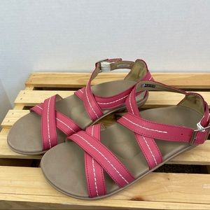 Spenco pink sandals size 9